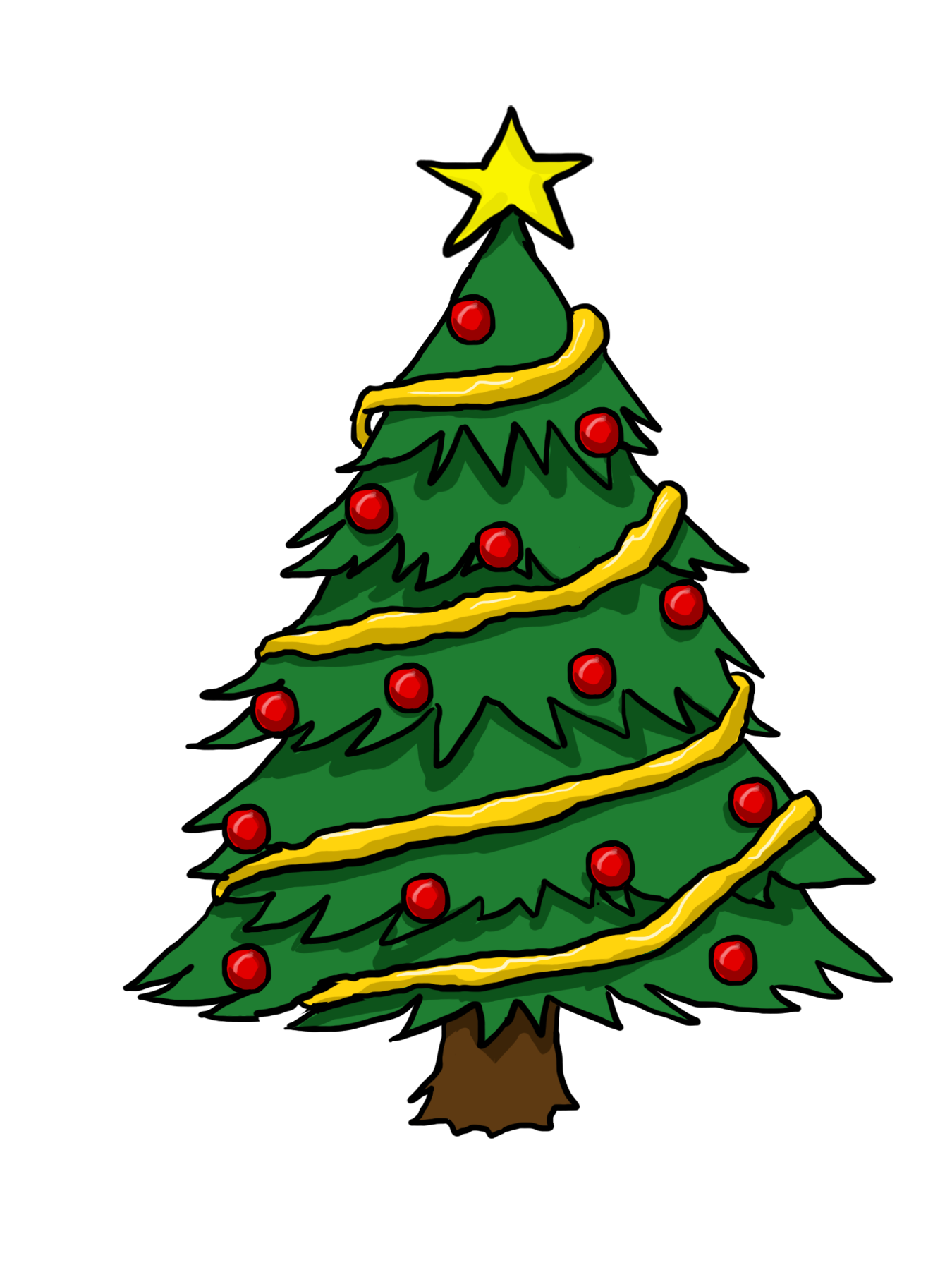 Cartoon Christmas Tree - ClipArt Best
