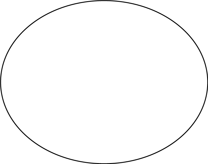 Printable Large Oval Template