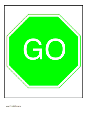 free printable stop and go sign clipart best