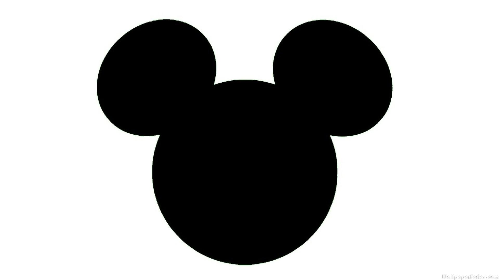 Mickey Mouse Head Silhouette - ClipArt Best