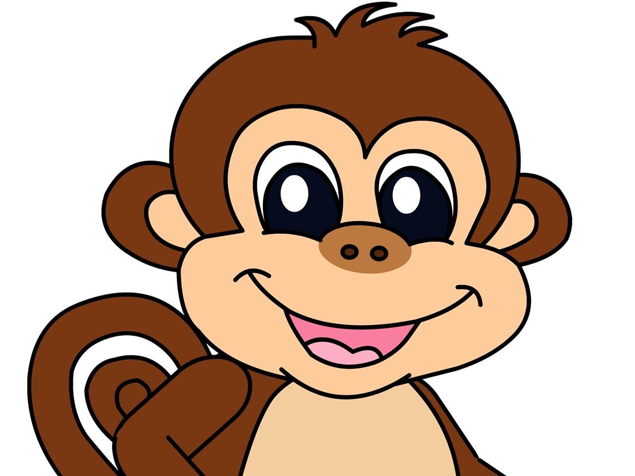Cartoon baby monkeys