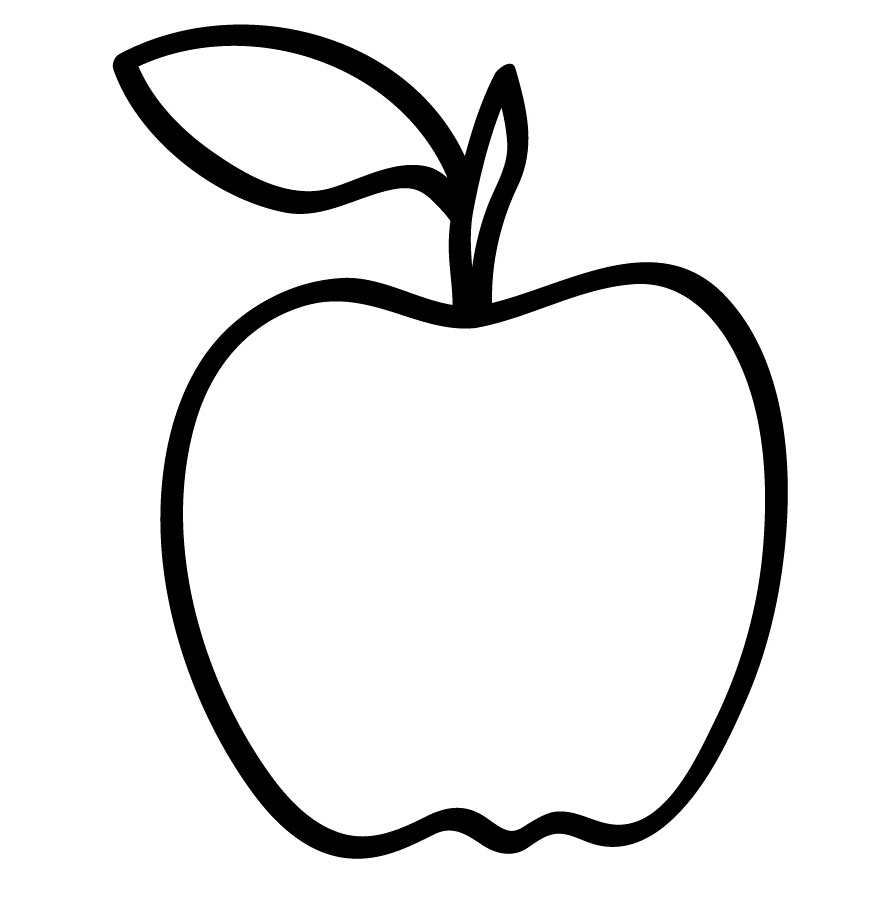 Apple Computer Coloring Pages : Color in apple clipart best