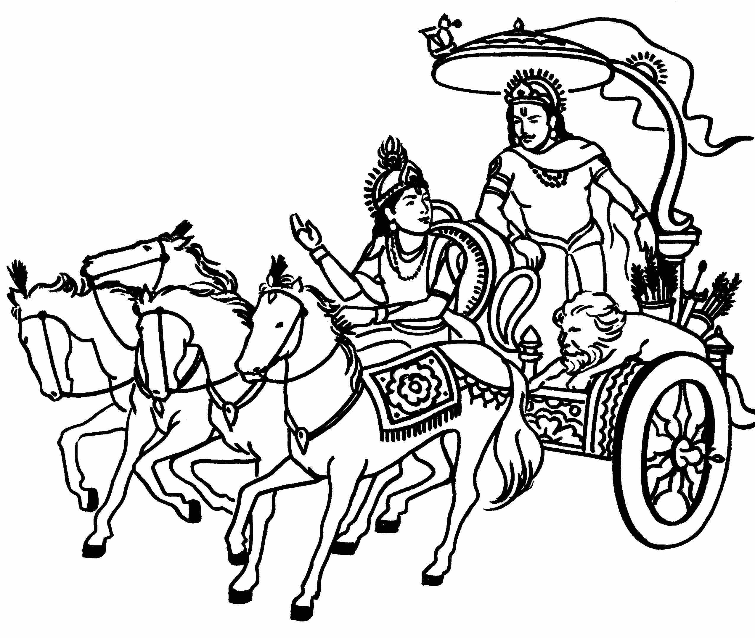 saraswati coloring pages - saraswati mata logo black and white clipart best