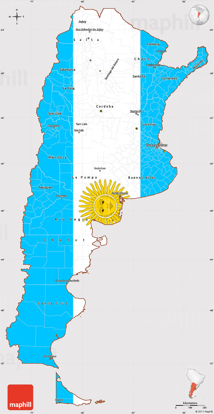 Download Argentine Girl Wallpaper For Mac: Argentinian Flag On Map