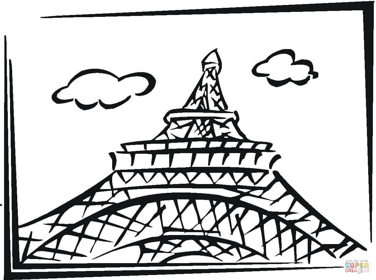 paris coloring pages - eiffel tower coloring page clipart best