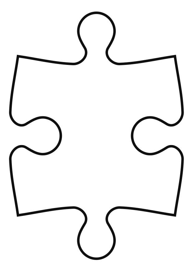 Coloring page puzzle piece - img 27119.