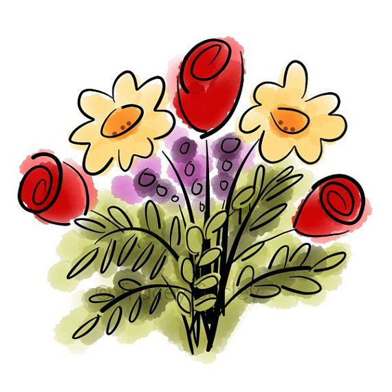 free clipart bouquet of flowers - photo #33