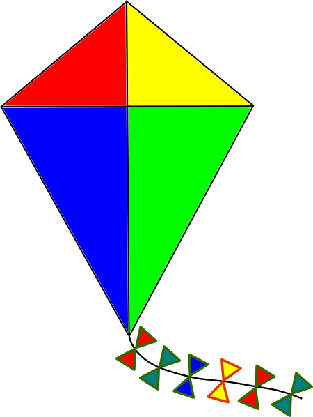 Kite clip art - vector clip art online, royalty free & public domain