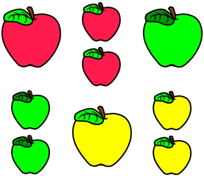 Red Yellow Green Apple Clip Art