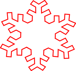 Red Snowflake Outline clip art - vector clip art online, royalty ...