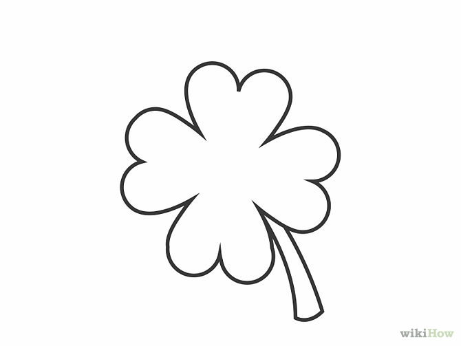 how to draw a shamrock 12 steps with pictures  wikihow
