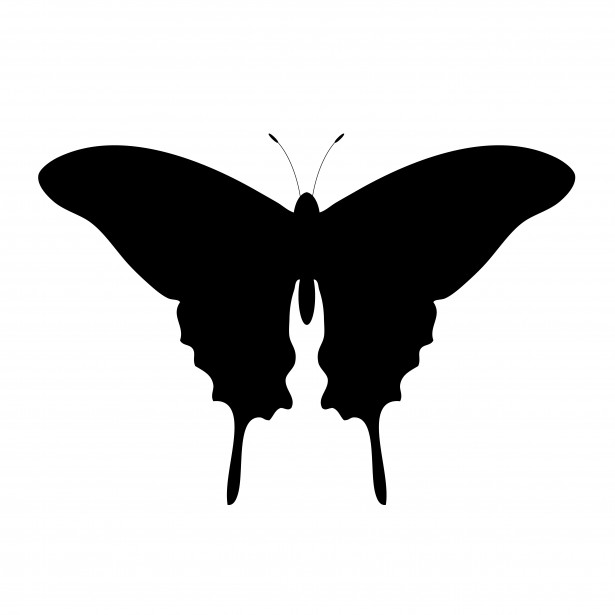Butterfly Silhouette Clipart Free Stock Photo - Public Domain Pictures