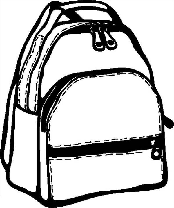 School Backpack Coloring Page | Coloring Pages