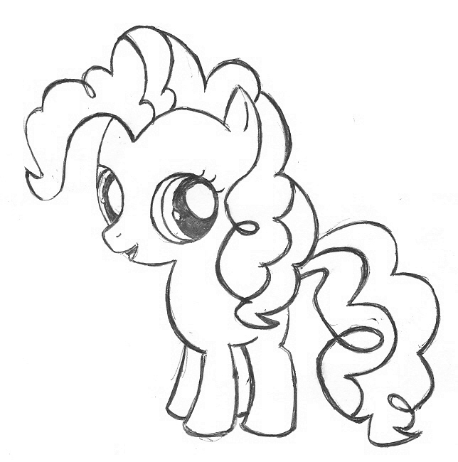Pinkie pie coloring clipart best for Coloring pages of pinkie pie