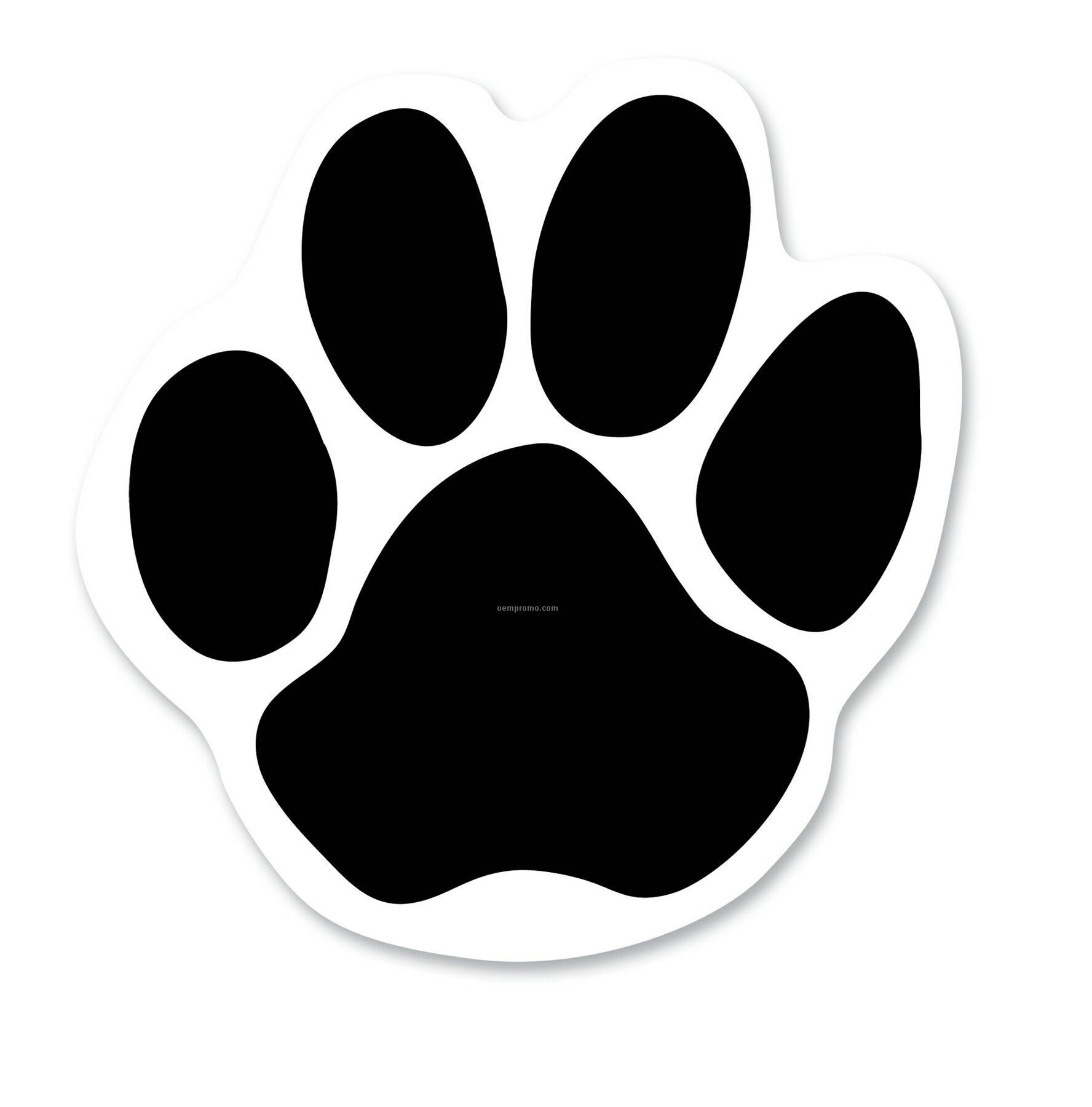Clever image with free printable paw prints