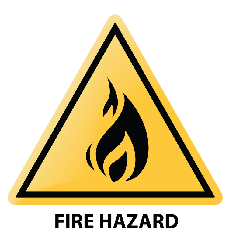 fire hazards Fire hazard labels to alert staff of flammable materials and other fire safety concerns durable fire safety labels manufactured in the usa and shipped fast.