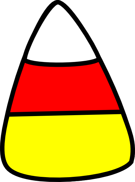 Candy Corn Black And White Clipart