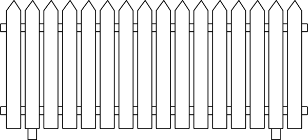 Picket Fence Template Clipart Best