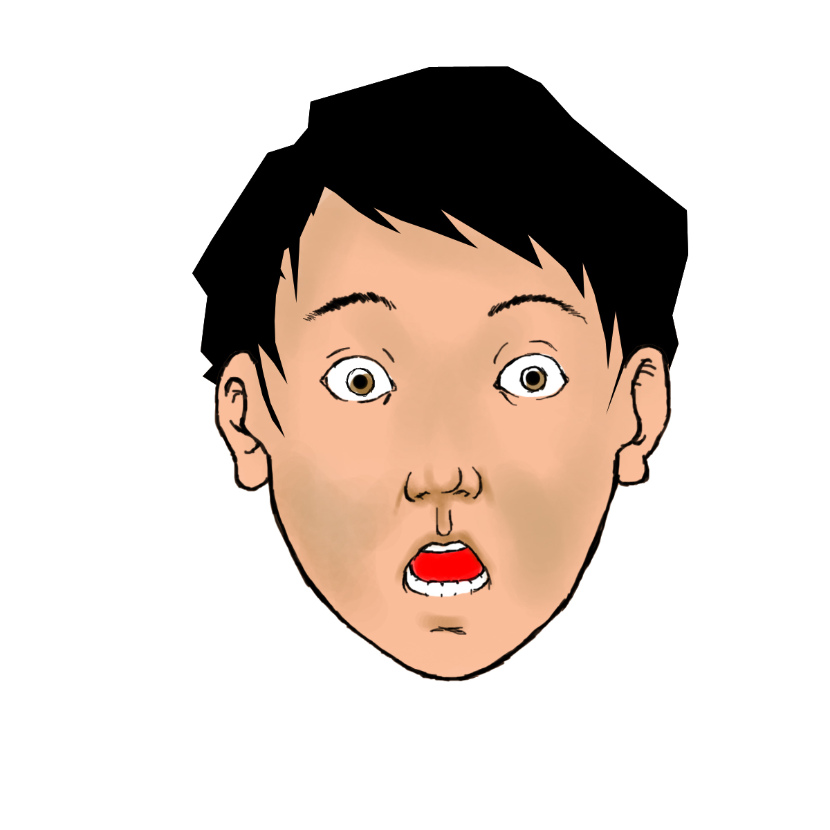 Shocked Animated Gif Surprised-face-color-step-