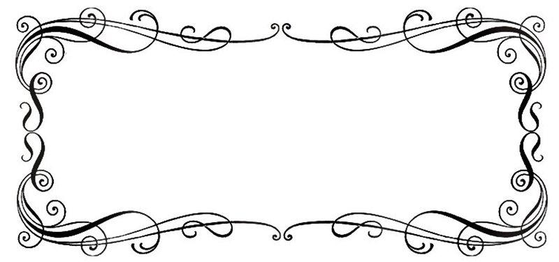 Line Drawing Borders : Line art borders clipart best