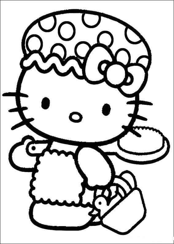 Coloring Pages Hello Kitty Bred Southern Of Me Clipart Best Clipart Best