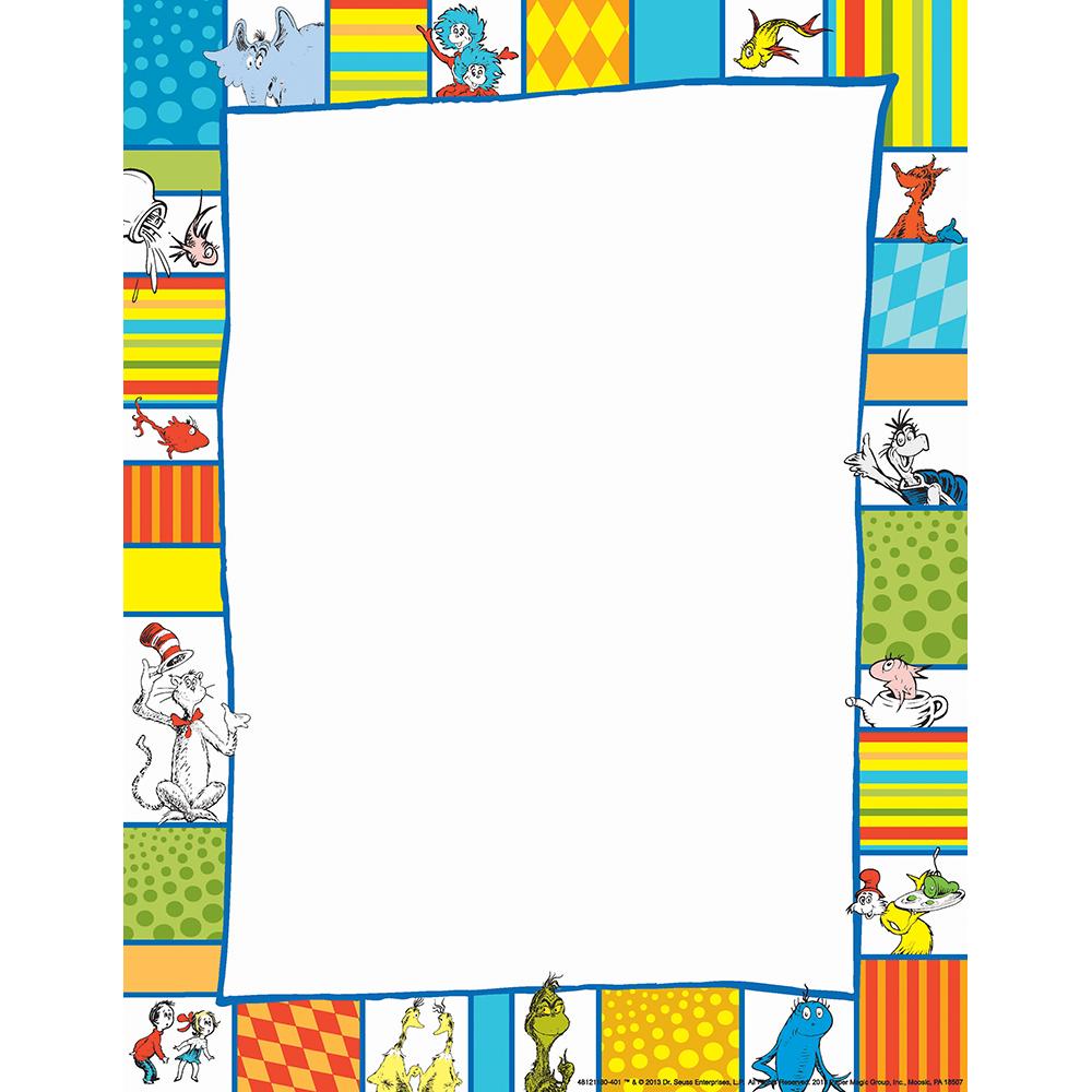 Dr. Seuss Shapes Computer Theme Paper | Eureka School