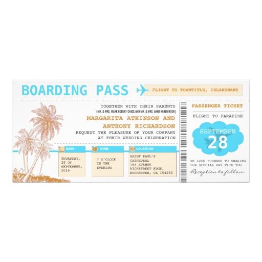 Custom Card Template boarding card template : Boarding Pass Wedding Invitations, 900+ Boarding Pass Wedding ...