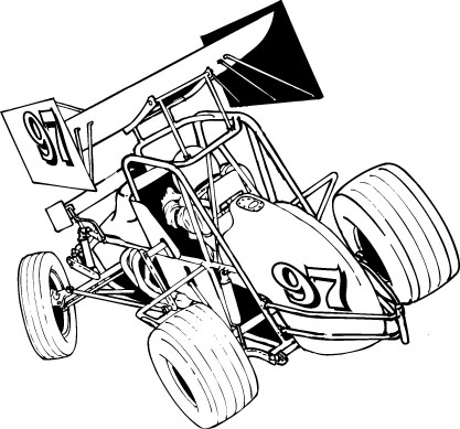 JRG Media - Sprint Car Clip Art
