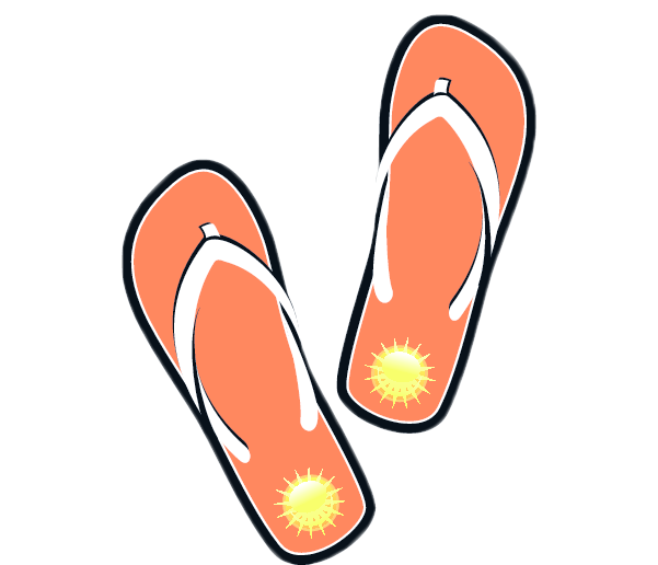Cartoon Flip Flops Clip Art Domain sandals clip art
