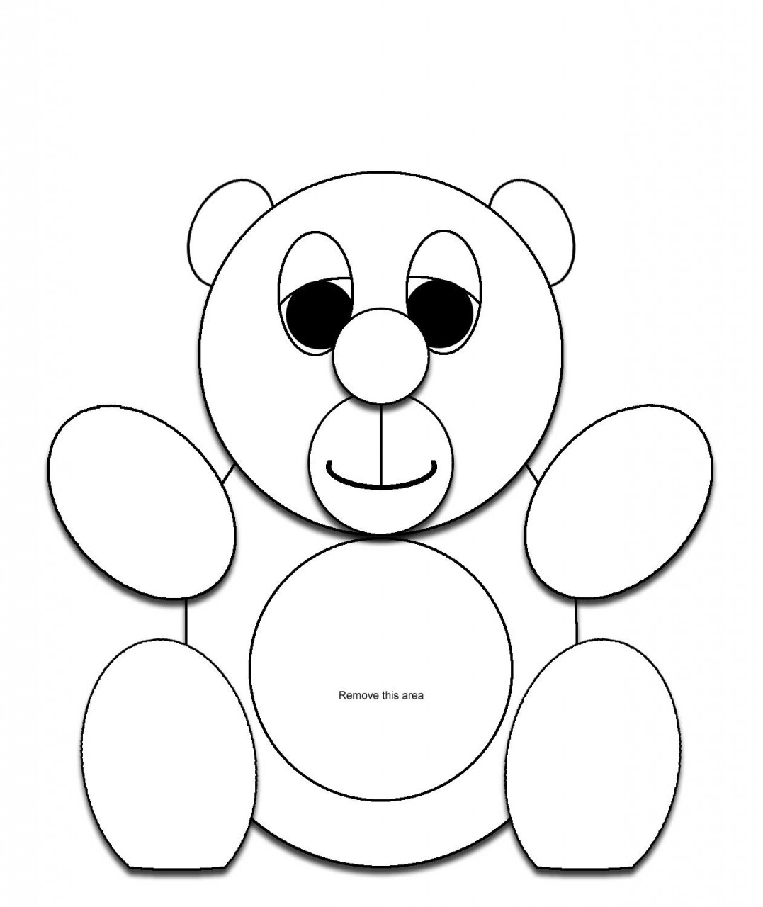 name the bear template - bear head template clipart best