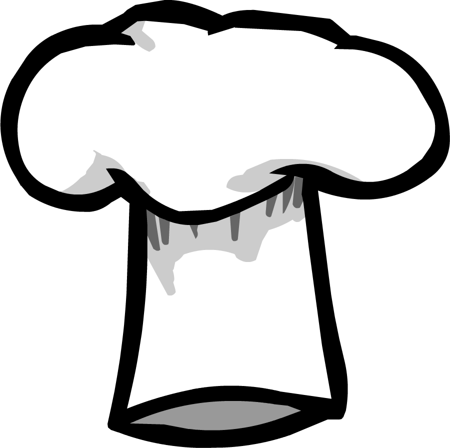 Chef Hat Coloring Page 7 pictures of chef hats.