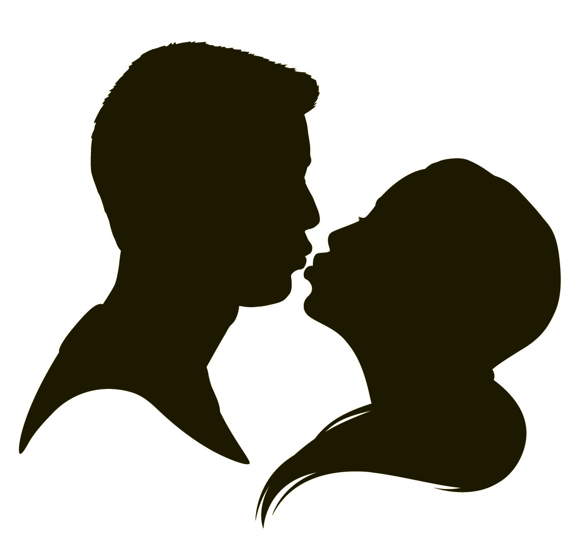 19 silhouettes of kissing people . Free cliparts that you can download ...