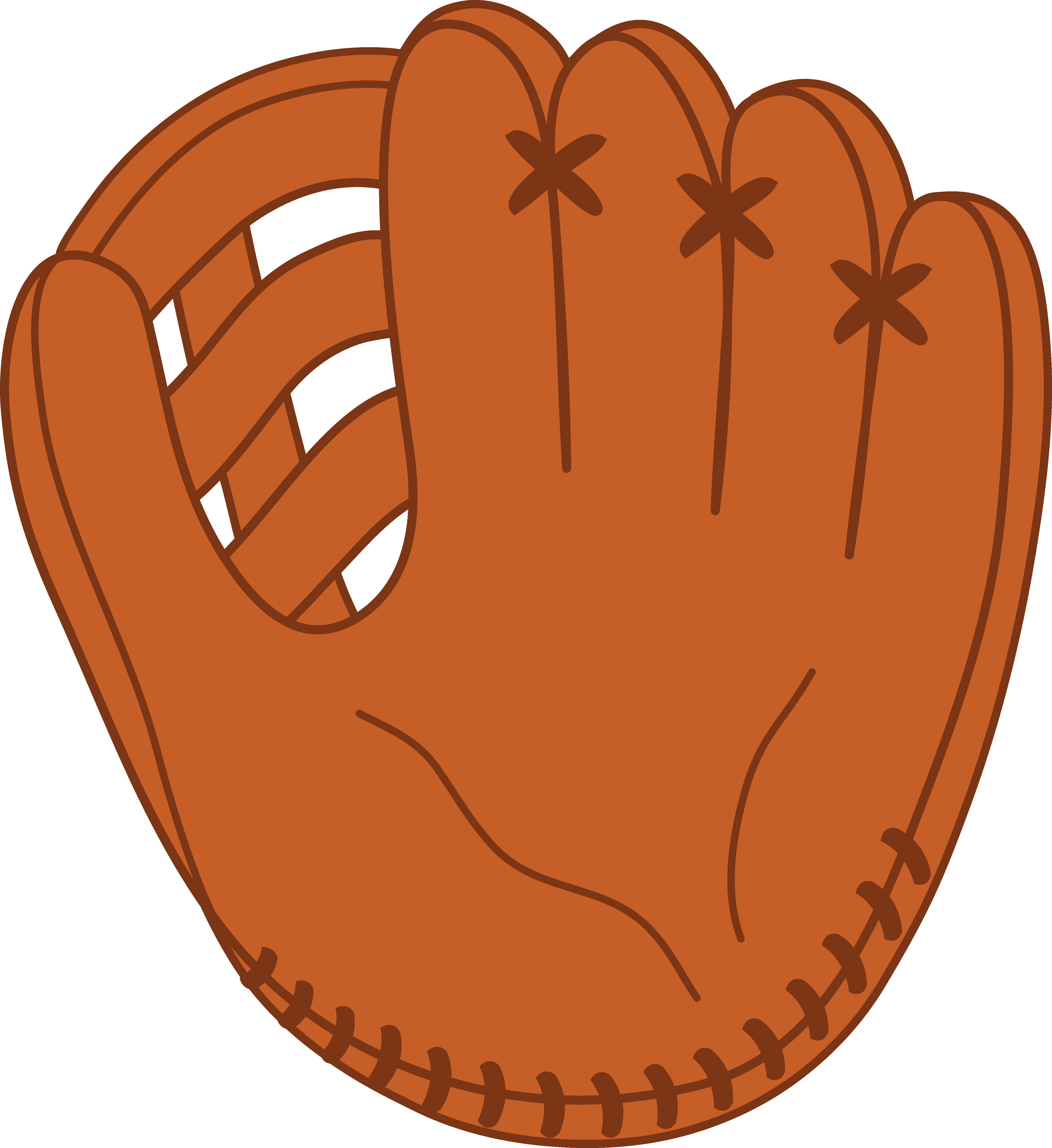 Baseball glove clipart free