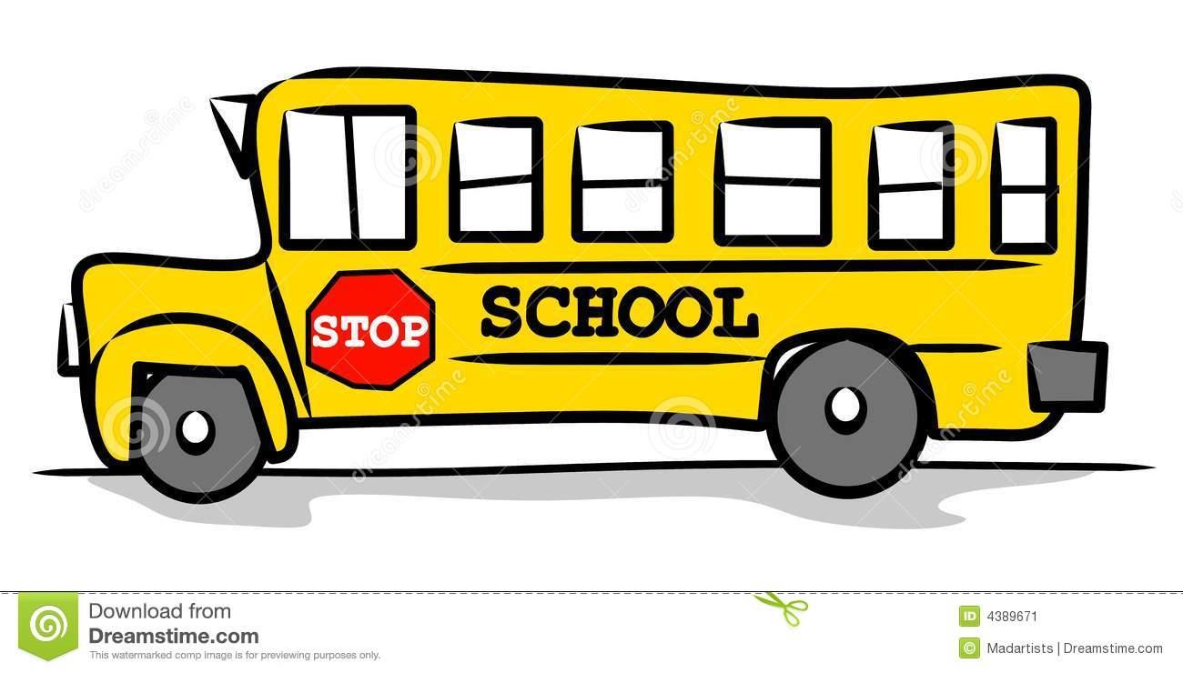 Clip Art Free School Bus School Bus Stop Clip Art