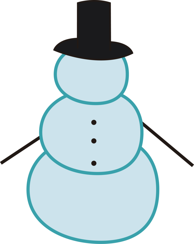 Snowman Outline - ClipArt Best