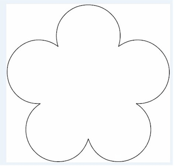 Delicate image intended for printable flower template cut out