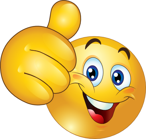 Thumbs Up Smiley Face Clipart