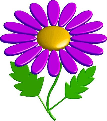 Bright Spring Flowers Vector Cartoon