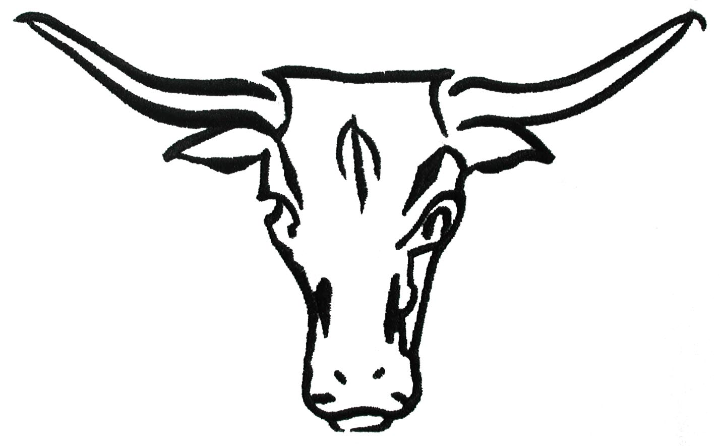 Texas Longhorn Clip Art Black And White