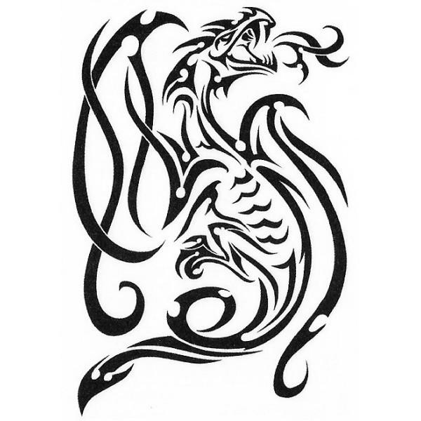 tatouage de dragon tribal clipart best. Black Bedroom Furniture Sets. Home Design Ideas