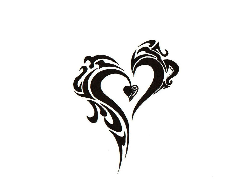 cool drawing designs of hearts clipart best