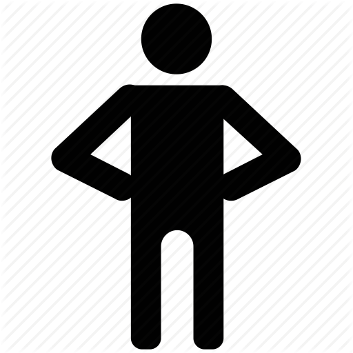 Standing person symbol