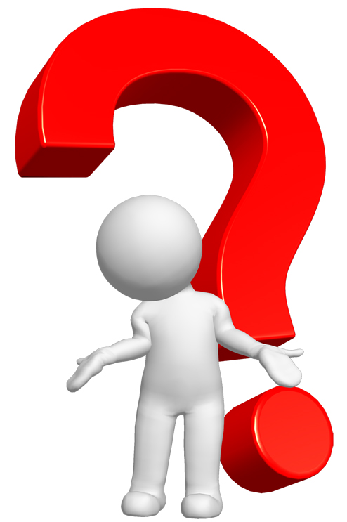 Clipart person with question mark