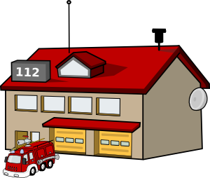 Fire Station clip art - vector clip art online, royalty free ...