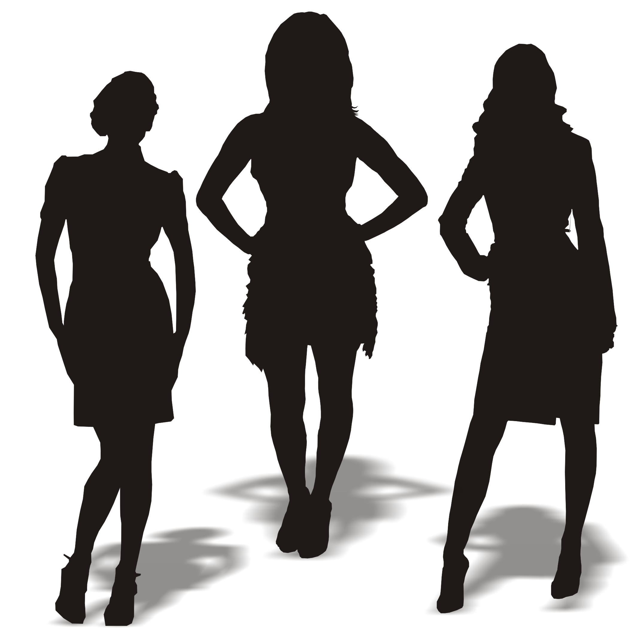 Silhouette Of A Woman - ClipArt Best