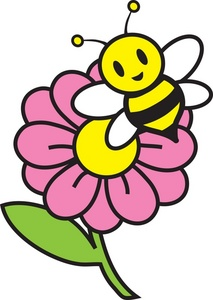 Honey Bee Clipart Image - Colorful drawing of a cartoon honey bee ...