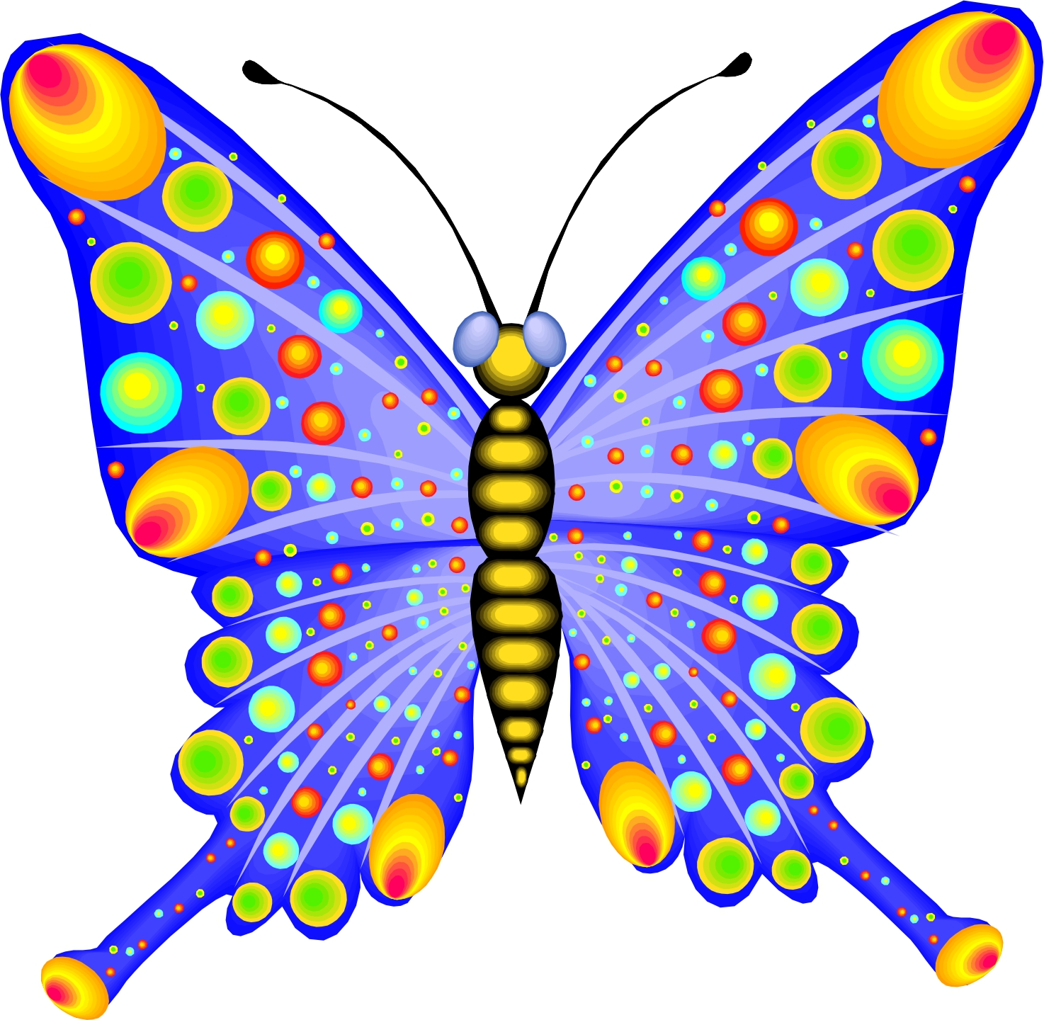 animated butterfly clipart free - photo #23