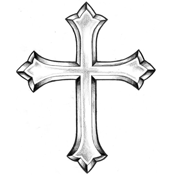 Cross Tattoo Line Drawing : Images of religious crosses clipart best
