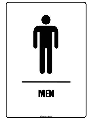 Shocking image with printable restroom signs