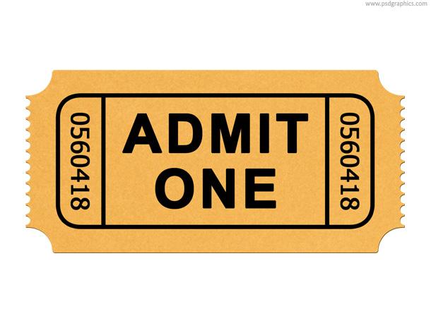 Blank ticket stub template free